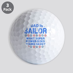 My Dad Is A Sailor (Blue) Golf Balls