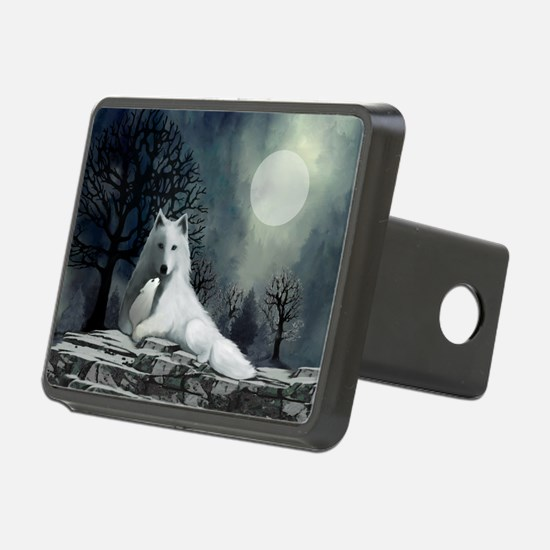 White Wolf and Pup Hitch Cover