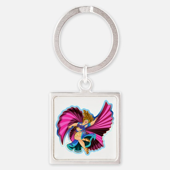 Big-n-Beautiful Winged dancer fair Square Keychain