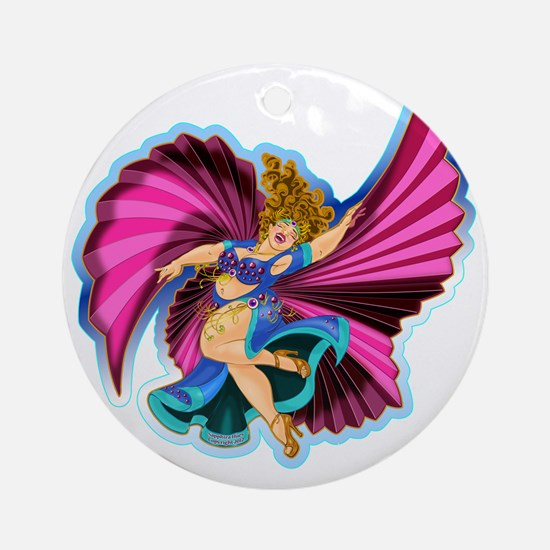 Big-n-Beautiful Winged dancer fair  Round Ornament