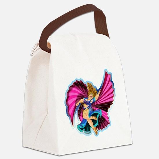 Big-n-Beautiful Winged dancer fai Canvas Lunch Bag