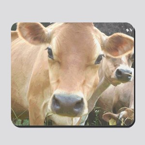 Jersey Cow Face Mousepad
