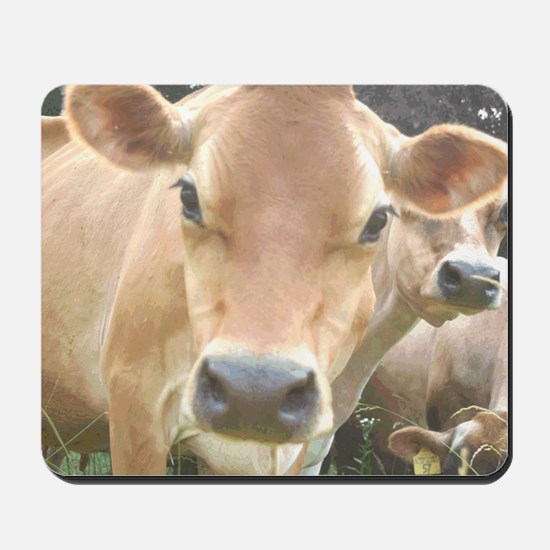 Jersey Cow Face Mousepad