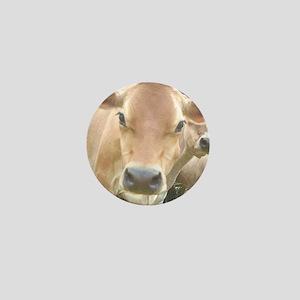 Jersey Cow Face Mini Button