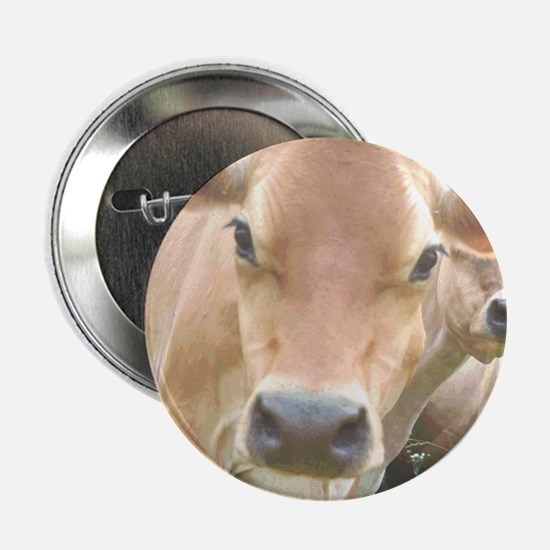 """Jersey Cow Face 2.25"""" Button"""