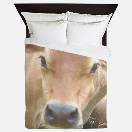 Jersey Cow Face Queen Duvet