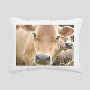 Jersey Cow Face Rectangular Canvas Pillow