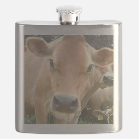 Jersey Cow Face Flask