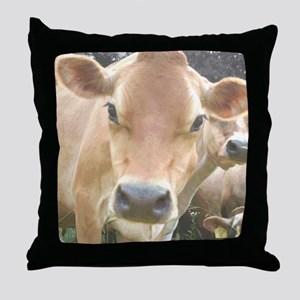 Jersey Cow Face Throw Pillow