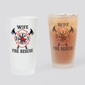 Fire Fighters Wife Drinking Glass