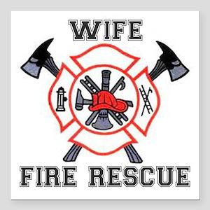 Firefighter Girlfriend Car Accessories - CafePress