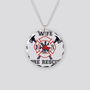 Fire Fighters Wife Necklace Circle Charm