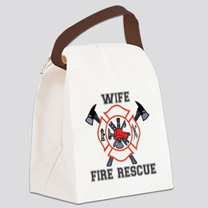 Fire Fighters Wife Canvas Lunch Bag