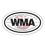 """WMA """"International Oval"""" Auto Sticker"""