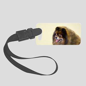 Pomeranian (Black and Tan) Small Luggage Tag