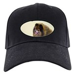 Pomeranian (Black and Tan) Black Cap with Patch