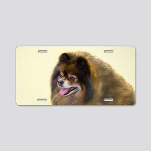 Pomeranian (Black and Tan) Aluminum License Plate