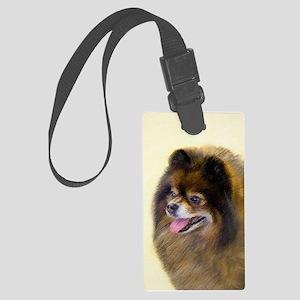 Pomeranian (Black and Tan) Large Luggage Tag