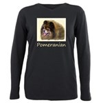 Pomeranian (Black and Ta Plus Size Long Sleeve Tee