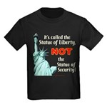 Liberty, Not Security Kids Dark T-Shirt