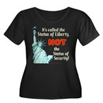 Liberty, Not Security Wmns Plus Sz Scoop Nk Dk Tee