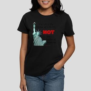Liberty, Not Security Wmn's Dark T-Shirt