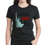 Liberty, Not Security Wmn's Dark T-Shirt