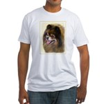 Pomeranian (Black and Tan) Fitted T-Shirt