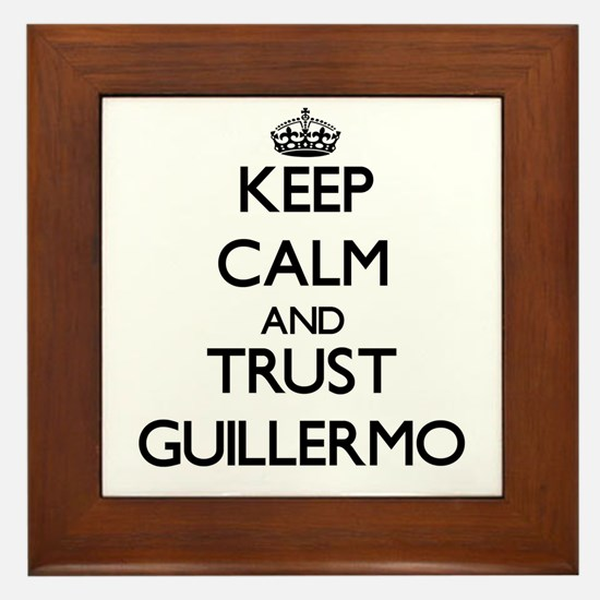 Keep Calm and TRUST Guillermo Framed Tile