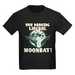 Barking Liberal Moonbat Kids Dark T-Shirt