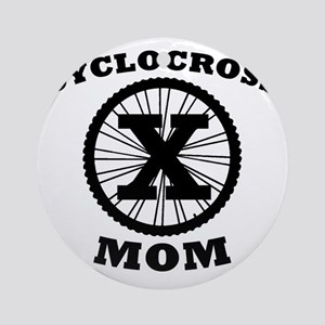 Cyclocross Mom Round Ornament