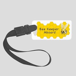 Bee Keeper Aboard Small Luggage Tag