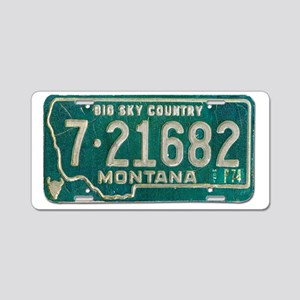 1974 Montana License Plate Aluminum License Plate