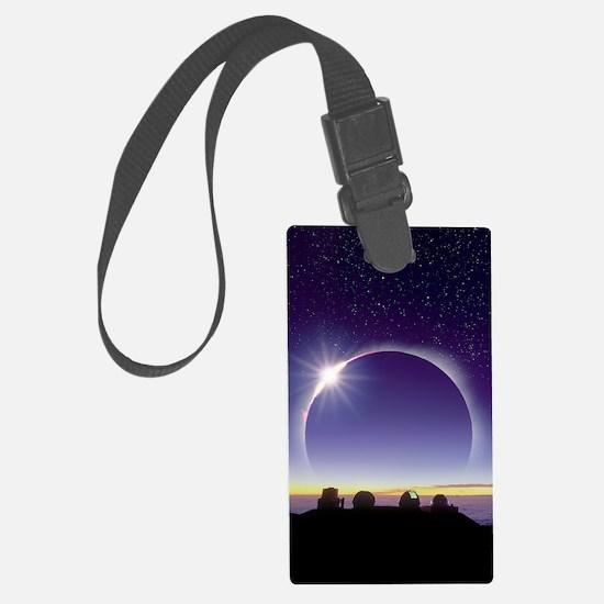 Solar eclipse Luggage Tag