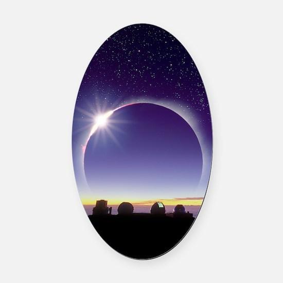 Solar eclipse Oval Car Magnet