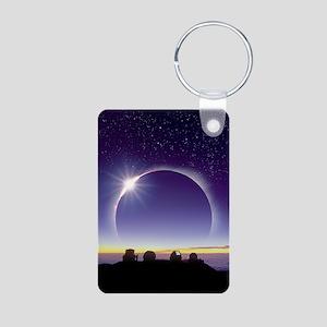 Solar eclipse Aluminum Photo Keychain