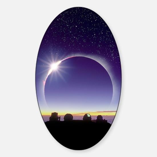 Solar eclipse Sticker (Oval)