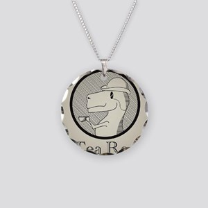Tea Rex Necklace Circle Charm