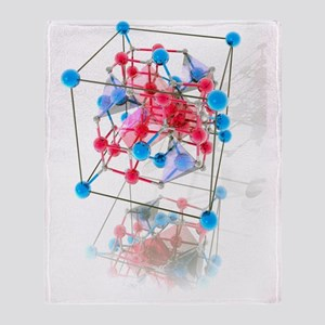 Spinel crystal structure Throw Blanket