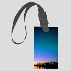 Starry sky over Vancouver, Canad Large Luggage Tag