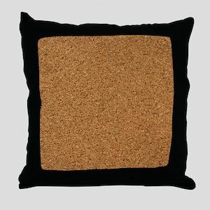 Chic Cork Pattern Unique Designer Throw Pillow