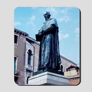 Statue of Paolo Sarpi, Venetian scientis Mousepad