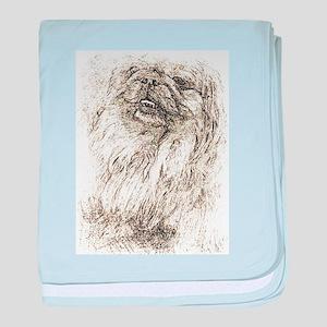 Pekingese Portrait baby blanket