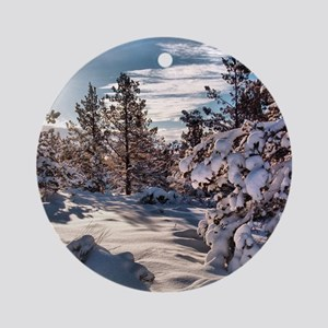 Klamath Falls Snow Round Ornament