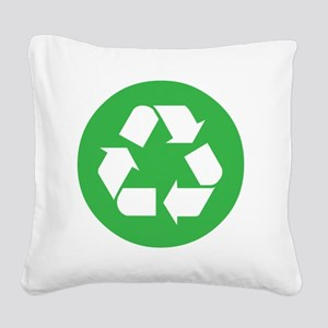 recycle Square Canvas Pillow