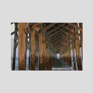 001-Under Pawleys Pier Rectangle Magnet