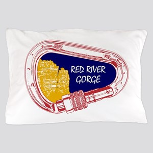 Red River Gorge Climbing Carabiner Pillow Case