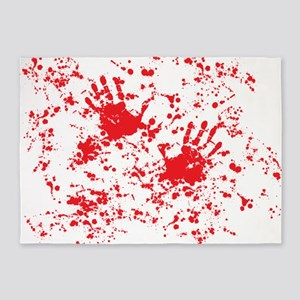 blood stain 5'x7'Area Rug