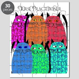Nurse Practitioner Cats Vertical Puzzle