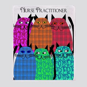 Nurse Practitioner Cats Vertical Throw Blanket